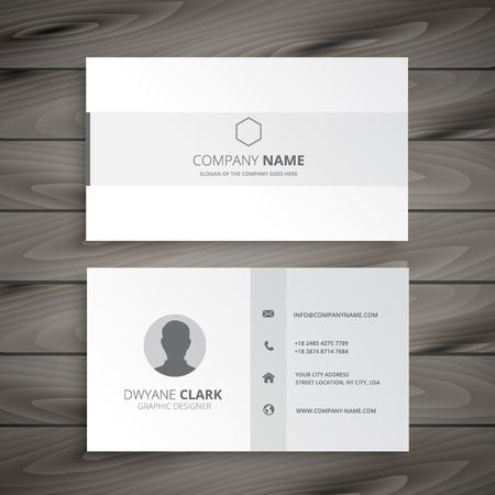 white minimal business card Illustration