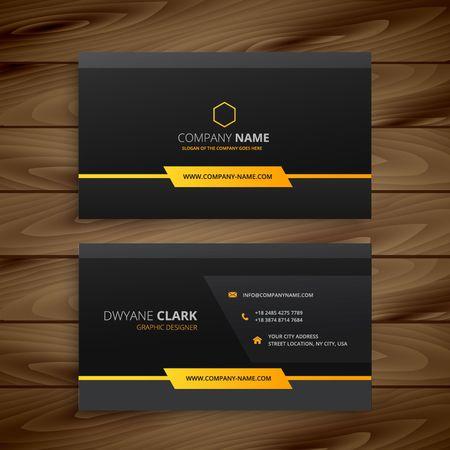 dark black business card Stock Illustratie