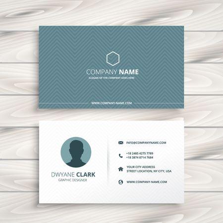 minimal: clean minimal business card