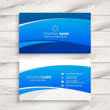blue wave business card