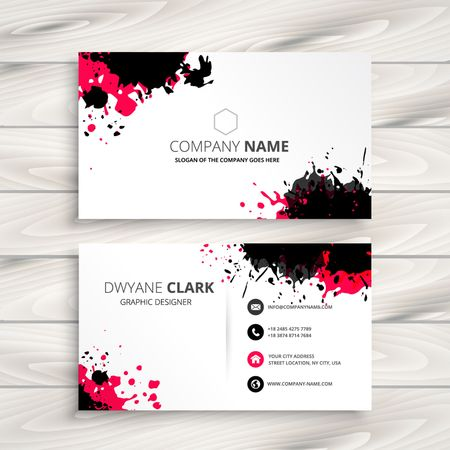 visiting card: ink splash business card
