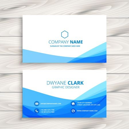 abstract wave business card 向量圖像
