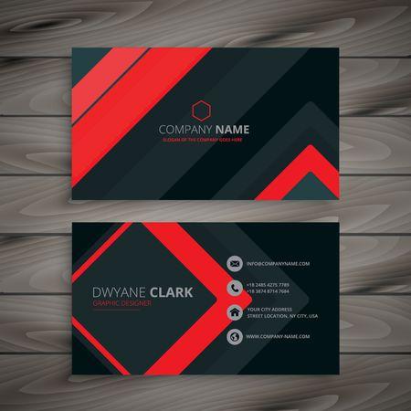 最小限の暗いビジネス カードのデザイン  イラスト・ベクター素材