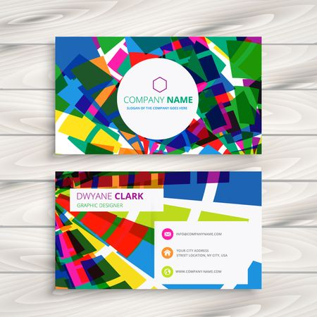 business card layout: funky business card Illustration