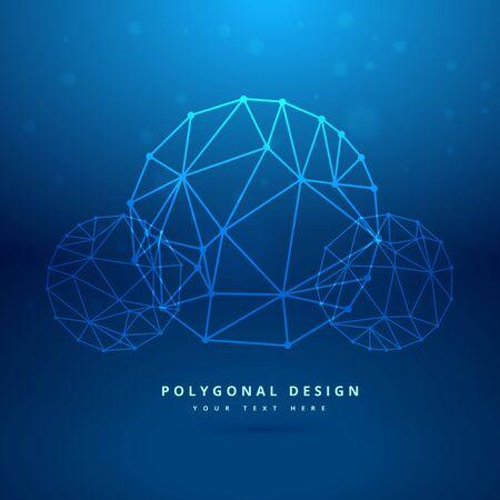 mesh: blue sphere polygonal mesh Illustration