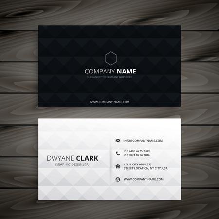 prosta czarno-biała diament wizytówki
