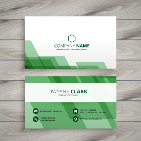 green card: abstract green business card Illustration