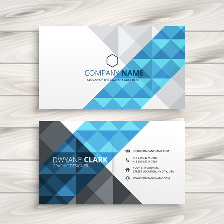 creative abstract business card
