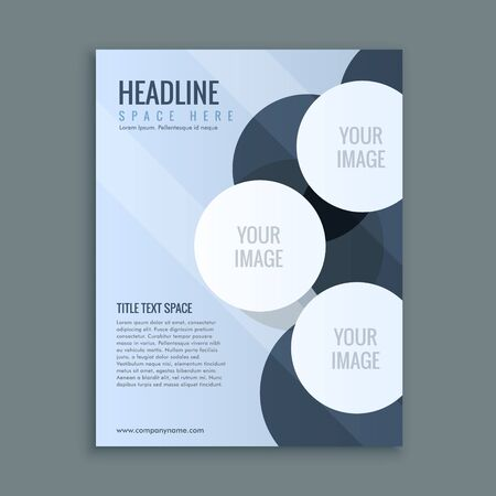 layout: abstract business brochure page layout