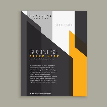 yellow black: Plantilla de negocios negro amarillo abstracto