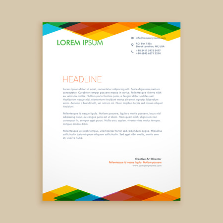 abstract colorful letterhead