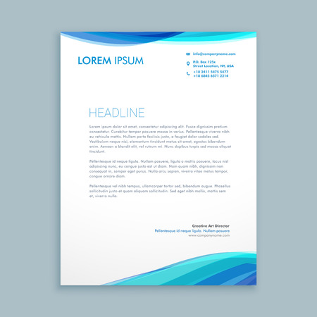 business wave letterhead design