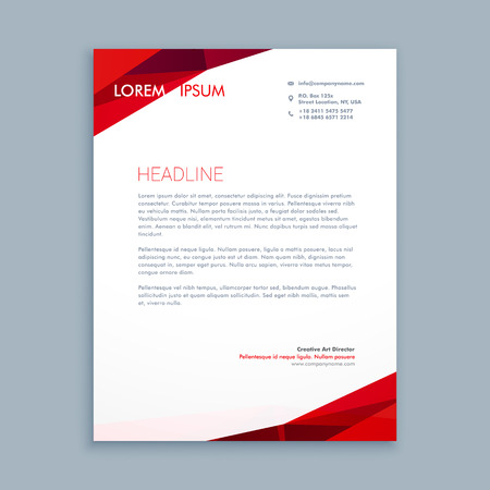 abstract letterhead template Illustration