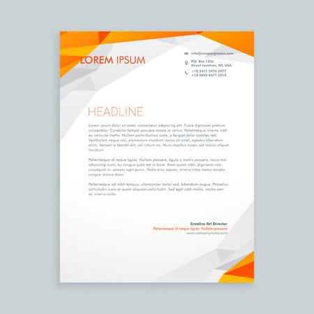 Business-Stil Briefpapier Design Vektorgrafik