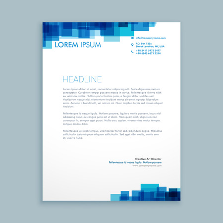 abstract coporate business letterhead