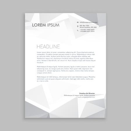 beautiful low poly letterhead design