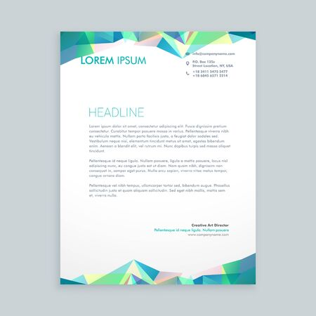 shape triangle: creative abstract shapes letterhead design
