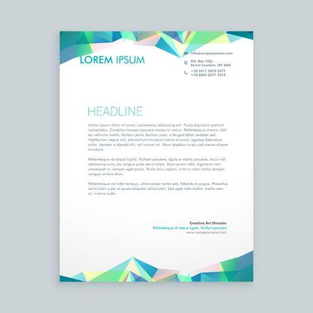 creative abstract shapes letterhead design