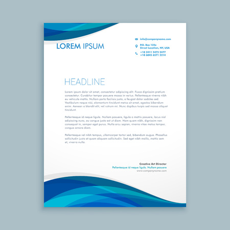 business style corporate letterhead