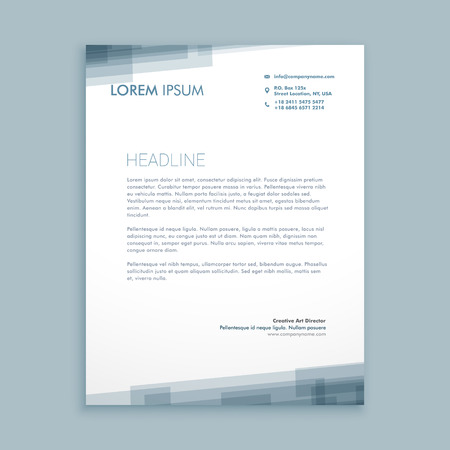 letterhead abstract design Çizim