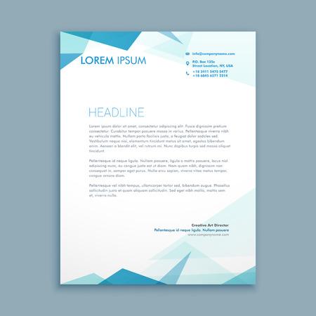 letterhead: abstract style letterhead