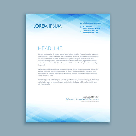 template: abstract business letterhead template