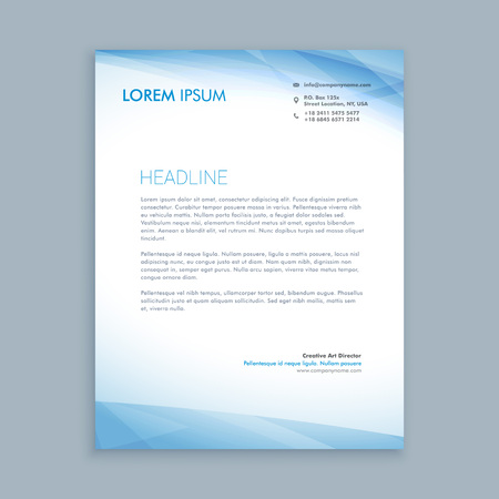 business letterhead 矢量图像