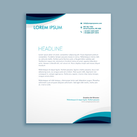 letterhead: corporate identity letterhead Illustration