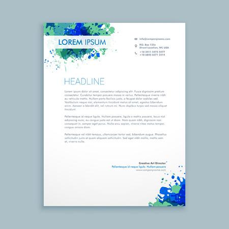 letterhead: business letterhead abstract design