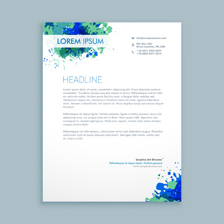 hojas membretadas: Carta de negocios diseño abstracto