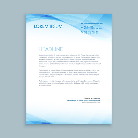 business wave letterhead template