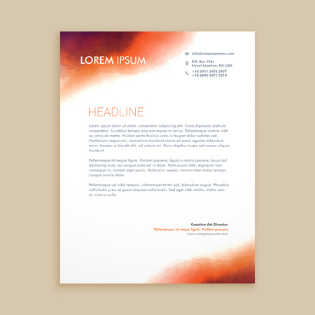 corporate business letterhead
