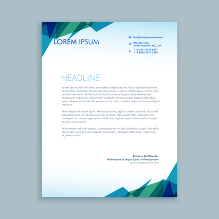 creative abstract letterhead design Banco de Imagens - 55398286