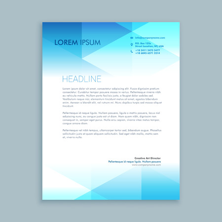 modern letterhead design Stock Illustratie
