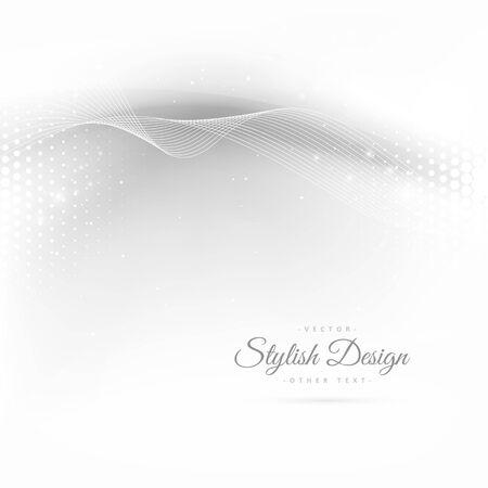 white wave: beautiful wave in white background Illustration