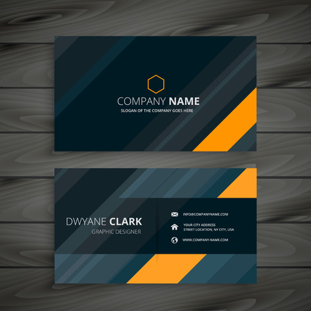 Premium diamond shape golden business card royalty free cliparts elegant dark business card vector colourmoves
