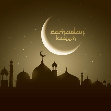 masjid: masjid silhouette with moon