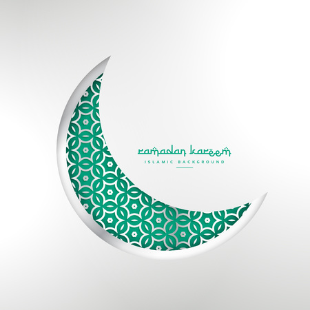 islamic ramadan festival creative moon design