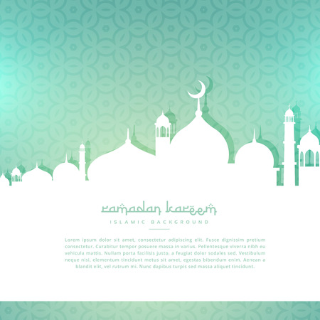 ramadan kareem: ramadan kareem greeting background Illustration