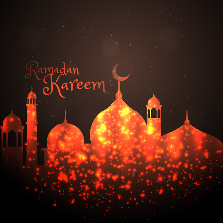 mohammad: creative mosque design made with sparkles Illustration