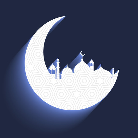 crescent: mosque with crescent moon