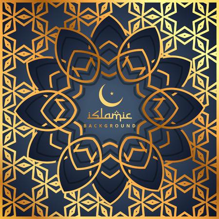 islamic pattern: golden pattern background with islamic shape
