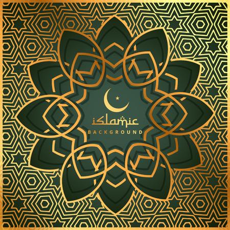 islamic pattern: islamic shape background with golden pattern