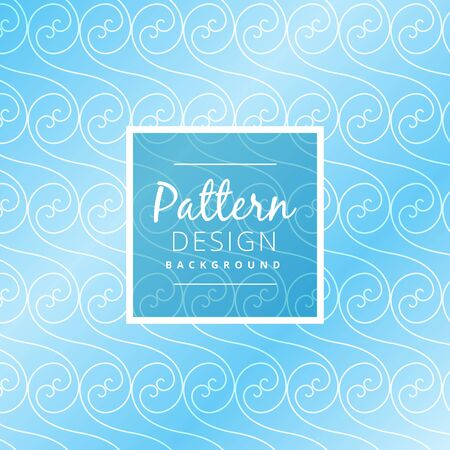 swirl: blue swirl pattern design Illustration