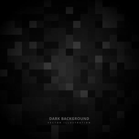 Fond noir mosaïque carré