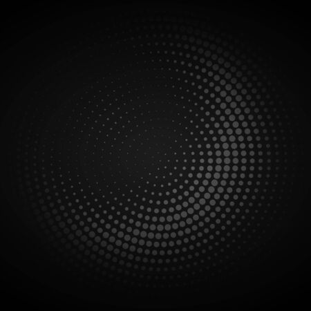halftone: dark circular halftone background