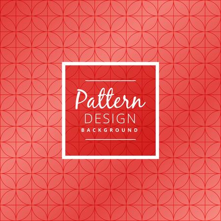 seamless pattern: seamless red circular pattern