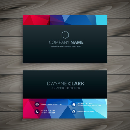 dark colorful business card