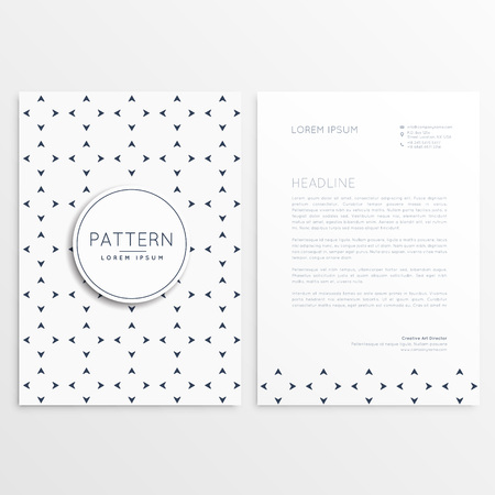 minimal: letterhead design with minimal pattern Illustration