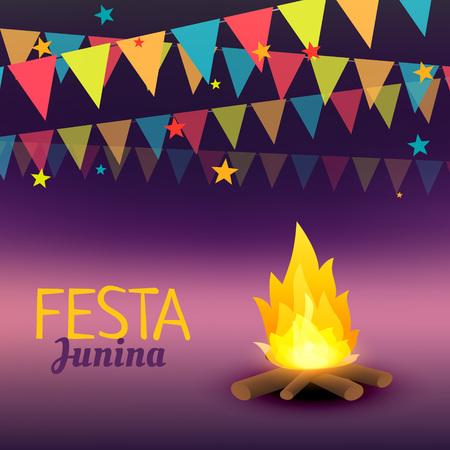 june: June Festival celebration illustration Illustration